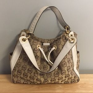 Authentic MK monogram shoulder bag